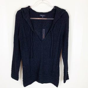 BCBGMaxAzria Knit Hooded Pullover Sweater